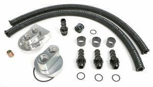 BILLET SINGLE OIL FILTER RELOCATION KIT-SB CHEVY & BB CHEVY