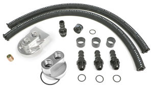 BILLET SINGLE OIL FILTER RELOCATION KIT-CHEVY V6 & 4 CYL.