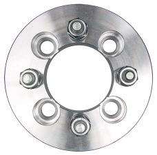 """Two 5 x 115mm To 5 x 4.5/"""" 114.3mm Wheel Adapters  1/"""" Spacer 12mm 1.5 Studs"""