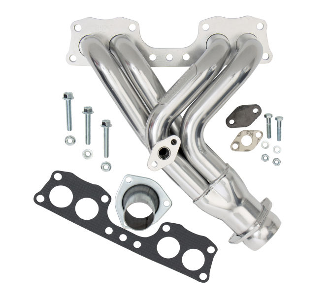 Photo of headers for a 1985-88 Toyota pickup truck with 22REC (EFI) engine