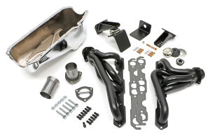Engine Swap In A Box Kit; 55-78 SB Chevy in 72-86 Jeep CJ-Uncoated Hedders