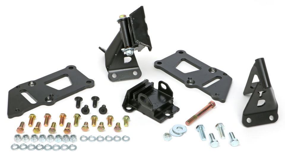 55-57 CHEVY (TRI-5) LS ENGINE SWAP MOUNT KIT WITH RUBBER MOUNT PADS
