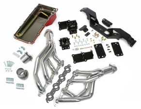 SWAP IN A BOX KIT-LS IN 67-69 F-BODY, 68-74 X-BODY WITH AUTO TRANS; HTC HEADERS