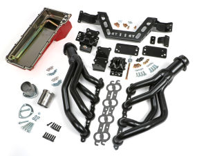 SWAP IN A BOX KIT-LS INTO 67-69 F-BODY; 68-74 X-BODY MAN TRANS; UNCOATED HEADERS