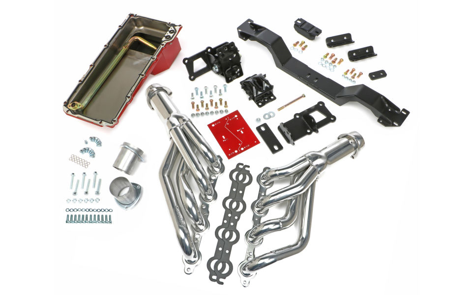 SWAP IN A BOX KIT-LS ENGINE INTO 70-74 F-BODY MANUAL TRANS. W/HTC HEADERS
