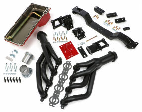 SWAP IN A BOX KIT-LS ENGINE INTO 70-74 F-BODY MANUAL TRANS W/BLACK MAXX HEADERS