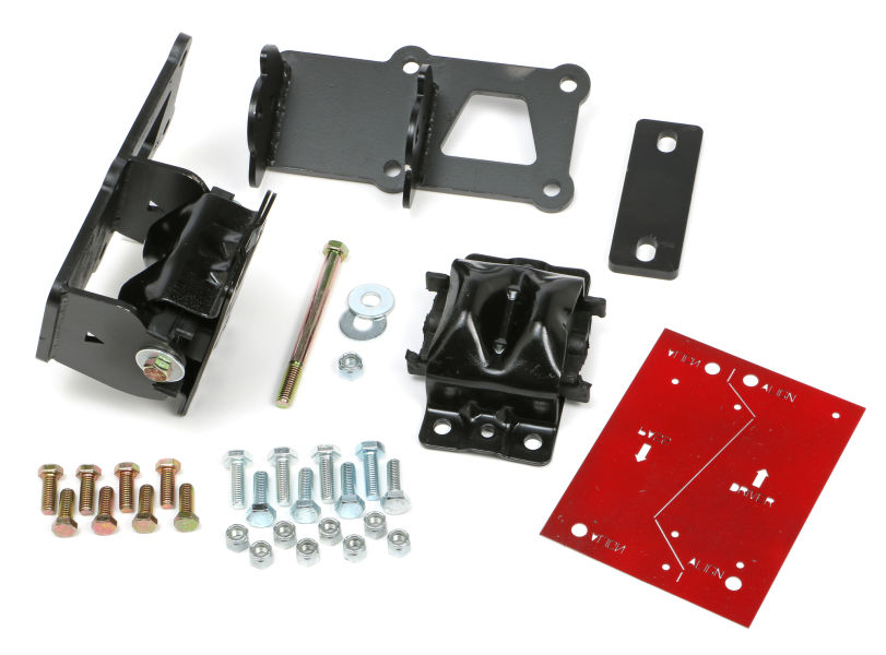 LS ENGINE SWAP MOUNT KIT; 70-74 CAMARO & FIREBIRD (F-BODY); RUBBER PAD