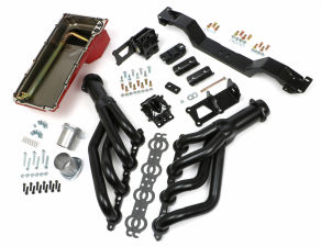 SWAP IN A BOX KIT-LS ENGINE INTO 75-81 F-BODY MANUAL TRANS. W/BLACK HEADERS