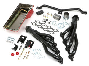 SWAP IN A BOX KIT-LS ENGINE INTO 67-72 2WD GMC TRUCK AUTO TRANS. W/BLACK HEADERS
