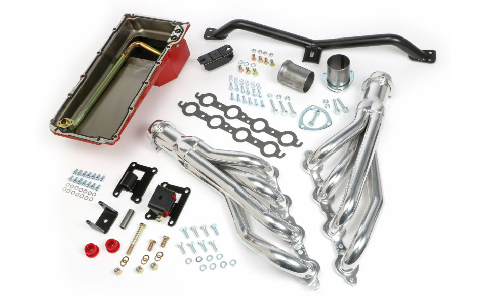 SWAP IN A BOX KIT-LS ENGINE INTO 67-72 2WD GMC TRUCK AUTO TRANS. W/HTC HEADERS
