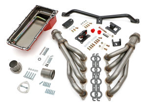 Engine SWAP-IN-A-BOX KIT; LS in 67-72 C10/C20 Truck; Auto Trans- Raw Headers