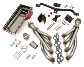 Engine SWAP-IN-A-BOX KIT; LS in 73-87 C10/C20 Truck; Auto Trans- Raw Headers