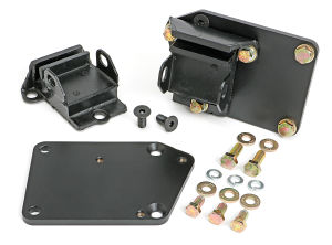 ENGINE SWAP MOUNTS; LT (GEN5) IN SB CHEVY CAR CHASSIS; 5/8 in. FORWARD; RUBBER