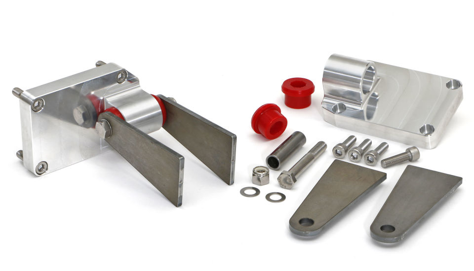 Photo of billet aluminum/Polyurethane engine mount kit for GM LS Engine projects