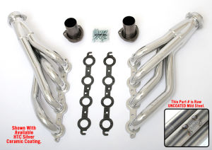 LS into TRI-5 Chevy Headers; 1 3/4 in. Dia, Mid-length Tubes-Uncoated