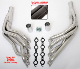 LS in 1967-98 C10 1/2 Ton TRUCK (2WD) Headers; 2 in. Dia, Long Tubes-Black Maxx