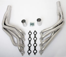 LS in 1967-98 C10 1/2 Ton TRUCK (2WD) Headers; 2 in. Dia, Long Tubes-HTC