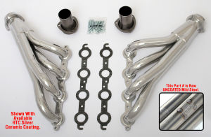LS into 1982-92 F-Body (Gen 3) Headers; 1 3/4 in. Dia, Mid-Length Tube-Uncoated