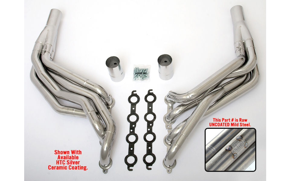 LS into 1982-93 Fox-Body Mustang- Step Long-Tube engine swap headers- Raw