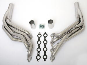 LS in 82-83 FORD FOX Body Headers; 1-7/8 x 2 in. Dia, Stepped Long-HTC