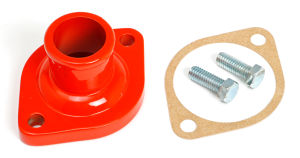 MOPAR V8 WATER NECK (THERMOSTAT HOUSING); ORANGE POWDER-COATED