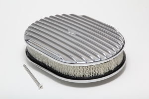 Finned Aluminum Oval Air Cleaner Kit 12 X 2 in. Paper Element- Full Finned Style