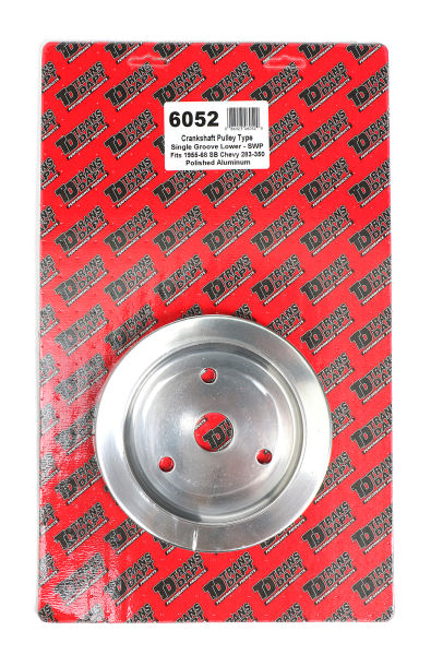 CRANKSHAFT Pulley; 1 Groove; 55-68 CHEVROLET 283-350; SHORT W/P- Pol. ALUMINUM