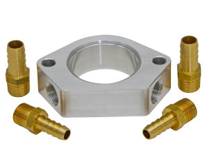 1 IN. BILLET WATER NECK RISER WITH 3/8 IN. NPT PORTS