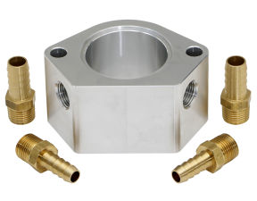 2 IN. BILLET WATER NECK RISER WITH 3/8 IN. NPT PORTS