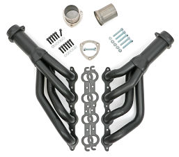 70-81 CAMARO LS SWAP HEADERS; MID-LENGTH;STAINLESS STEEL- BLACK MAXX