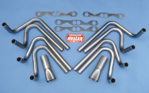 DYNO HEADER Kit; CHEVY SB-w/Sub-Flanges; 2 in.; 3-1/2 in. WELD-ON Coll.