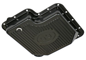FORD C6 TRANSMISSION PAN; STOCK DEPTH / STOCK CAPACITY; STEEL- BLACK FINISH