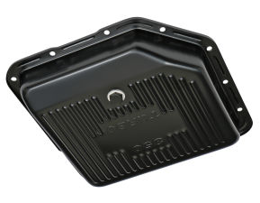 TH350 TRANSMISSION PAN; STOCK DEPTH / STOCK CAPACITY; STEEL- BLACK FINISH