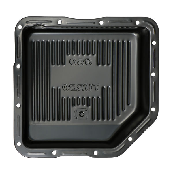 Interior bottom photo of deep transmission pan for GM TH350 transmissions