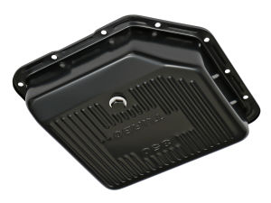 TH350 TRANSMISSION PAN; 3-1/2 IN. DEEP / EXTRA CAPACITY; STEEL- BLACK FINISH