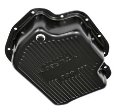 TH400 TRANSMISSION PAN; 3 IN. DEEP / EXTRA CAPACITY; STEEL- BLACK FINISH