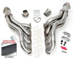 STAINLESS Headers; 06-17 Charger, 09-17 Challenger 5.7-6.4L;2 in. Dia-BLACK MAXX