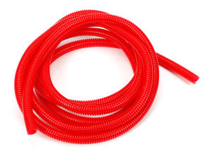 RED Wire Harness; Convoluted; 3/8 in. Diameter- (10 ft)