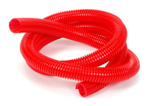 RED Wire Harness; Convoluted; 3/4 in. Diameter- (5 ft)
