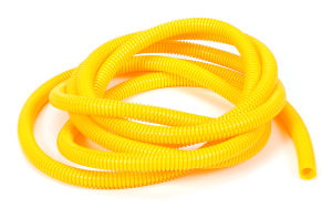 YELLOW Wire Harness; Convoluted; 3/8 in. Diameter- (10 ft)