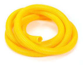 YELLOW Wire Harness; Convoluted; 1/2 in. Diameter- (7 ft)