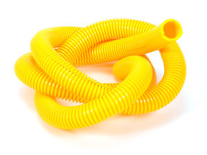 YELLOW Wire Harness; Convoluted; 3/4 in. Diameter- (5 ft)