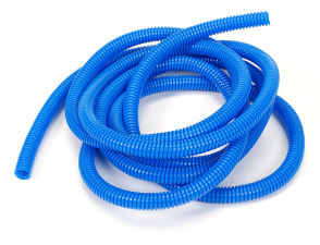 BLUE Wire Harness; Convoluted; 3/8 in. Diameter- (10 ft)