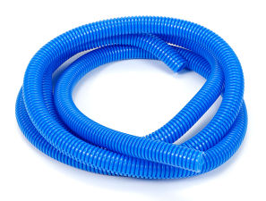 BLUE Wire Harness; Convoluted; 1/2 in. Diameter- (7 ft)