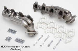 HTC Coated 304 Stainless Headers; 1-1/2 in. Tube Dia; Stock Coll; SHORTY Design