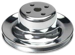WATER PUMP Pulley; 1 Groove; 1965-1966 FORD 289; O.E. Water Pump-CHROME