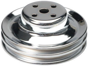 WATER PUMP Pulley; 2 Groove; 1965-1966 FORD 289; O.E. Water Pump-CHROME