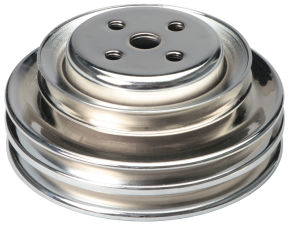 WATER PUMP Pulley; 3 Groove; 1964-1973 FORD 289; O.E. Water Pump-CHROME