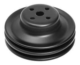 WATER PUMP Pulley; 2 Groove; 1965-1966 FORD 289; O.E. Water Pump- ASPHALT BLACK