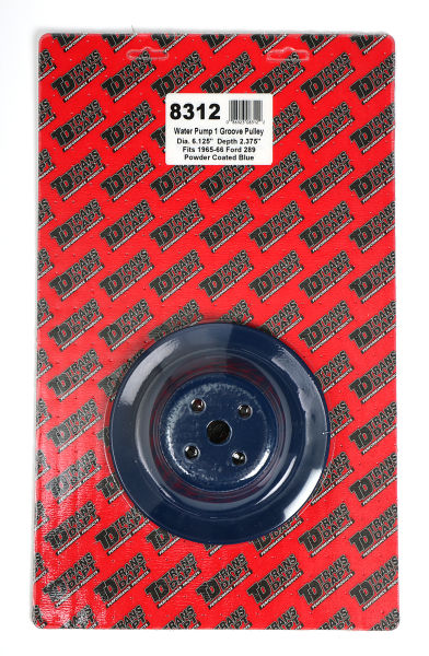 WATER PUMP Pulley; 1 Groove; 1965-1966 FORD 289; O.E. Water Pump- FORD BLUE